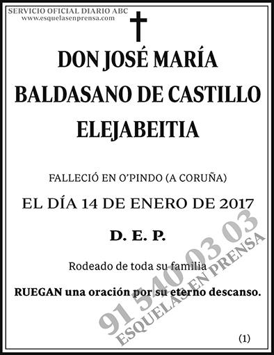 José María Baldasano de Castillo Elejabeitia